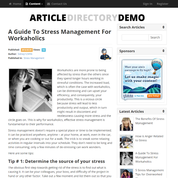 Individual Article Display Page