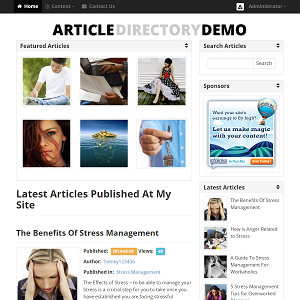 Article Directory Script Live Demonstration
