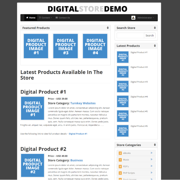 Digital Store With Boxed layout