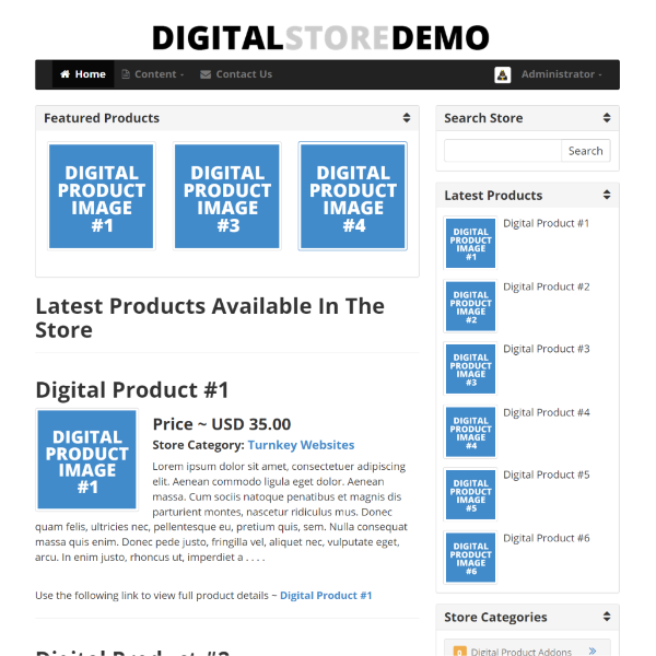 Digital Store Script Live Demonstration